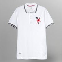 Dog Embroidery Family Matching Polo T Shirt