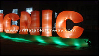 Inflatable Letter Model / Inflatable Advertising Product With LED Light