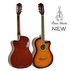 Concert cutaway acoustic guitar with vintage design
