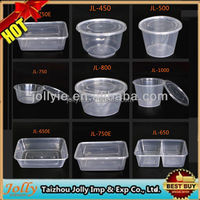 top seller 2015 new design clear plastic takeaway disposable food container