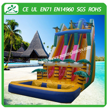 2015 Commercial palm tree inflatable slip and slide, inflatable water slide