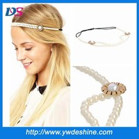 New product fashion handmade beaded elastic hair band wholesale TS-186