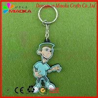 100% Manufacturer for cheap promotion soft 3D rubber bracelet keychain, soft pvc tag keyring, silicone wristband keychain
