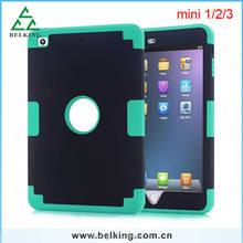 For Ipad Mini Shockproof Case, Rubber Armor Defender Case For Ipad Mini 1 2 3 Silicone Hard Plastic Case