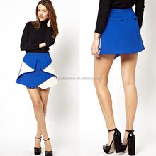 mini skirts 2014 fashion short skirt dual color fashion school skirts
