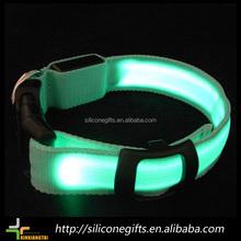 nylon fabric flash LED light led dog collar dog leashes sex dog