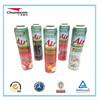 tinplate packaging empty aerosol can for filling foam, hair spray, car care, gas lighter, air fragrance