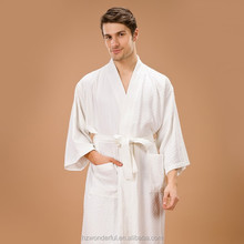 hangzhou textile white kimono waffle triangle spa bathrobe and hotel bathrobe man sex with animal photo