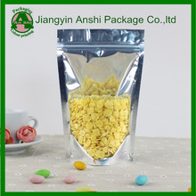 Healthy food block bottom ziplock plastic resealable bags for food/clothes/agricultural/industry