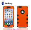 Rich experience plastic phone cover for Iphone 6 front and back combo case
