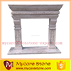 Home decorative white marble fireplace,granite fireplace mantel