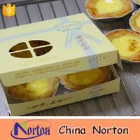 egg tart white cardboard paper food packing box NTET- 037B