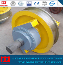 Top quality 500mm large tonnage bridge crane forged crane wheel for sale