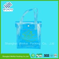 PVC shoulder bag, EVA printed shopping bag, cylindrical women's bag for shop with hand