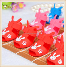 Plastic pink/blue shoes for small dogs wear and walk