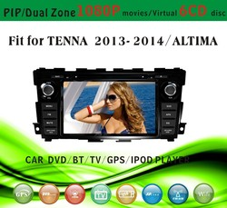 car dvd gps providers fit for Tenna Altima 2013 2014 with radio bluetooth gps tv pip dual zone