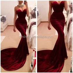 New Arrival Sexy Wine Taffeta Vestido de Festal 2015 Free Shipping Sweetheart Sleeveless Long Evening Party Dresses Gown