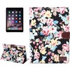 New Arrival Flower Pattern Flip Stand Leather Smart Case for iPad Air 2