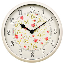 "12"" plastic pastoralism style wall clock/ hot selling products in russian market"