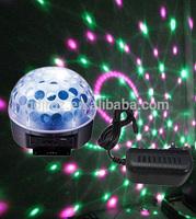 led step light MP3 music LED RGB crystal magic disco ball With Remote Control