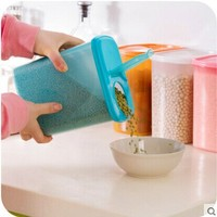 2015 New Style Rectangle Shaped Plastic Covered Colored Food Storage Box