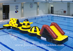 Swimming pool games Inflatable water wipeout Aqua Obstacle Course