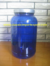 2lbs clear blue PET Bottle/Tubs for Whey protein powder