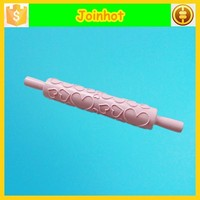 Heart pattern pastri dough roller and adjust pink roll pin