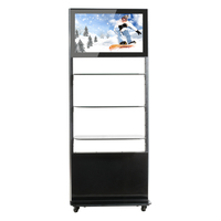 22 Inch Floor Standing Lcd Advertising Display With Brochure Holder