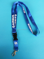 custom print your own logo on id card holder lanyard with metal hook