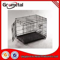 Black coated animal cage for dog