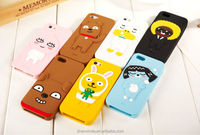 Silicone 3D Cute KAKAO FRIENDS Cartoon Cell Phone Case For iPhone6/6 PLUS/5