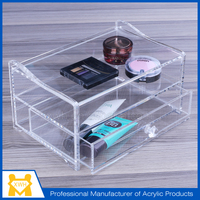 new technology pop clear acrylic tabletop cosmetic display stand for mall
