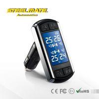 2015 Steelmate TP-08 car lcd monitor,tire pressure alert valve caps,pressure indicator gauge