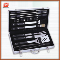 Hot sale stainless steel bbq tool set,aluminum case
