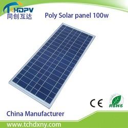 Manufacturer Grade A Monocrystalline Silicon or Polysilicon 100w solar panel/Solar cell