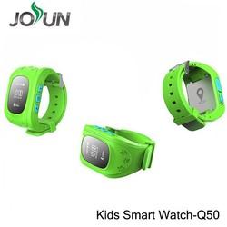 New 2015 Wholesale Q50 Smart kids GPS watch,child smart watch,small gps cat tracker