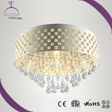 modern E14 crystal decoration white ceiling light, crystal ceiling lamp