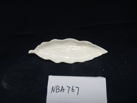 Mini white glazed ceramic decorative porcelain plate