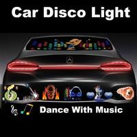 Car Disco Light Car music rhythm light led sound activated equalize 12V car rear window led music lights