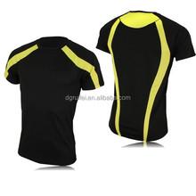 custom plain 100% cotton short sleeve o neck black and yellow t shirt design