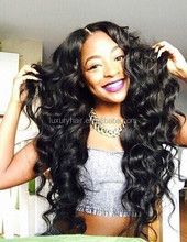 Stock Best Quality 20 inch Loose Wave 100% Unprocessed 100% Human Hair Brazilian Virgin Hair Full Lace Wig