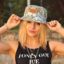 custom cheap new style print bucket cap/spring fashion bucket cap