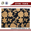 Golden and black bee flower pattern flocked fabric home decoration