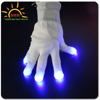Promotional LED gloves for Party&Nightclub with Finger Light