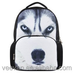 Personality fox kids backpack ,3D animal school backpack bag
