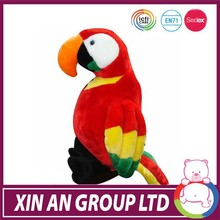 custom OEM kids toy wholesale plush parrot birds