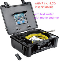 TVBTECH PIPELINE SEWER video inspection equipment with 1/3'' SONY CCD camera and remote control,12 pcs white LEDs