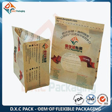 Food Paper Packaging Bag With Window/Kraft Paper Pouch For Snack Food