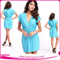 Wholesale Sexy Spiked Elegant Sky Blue Pretty One Piece Swimsuit